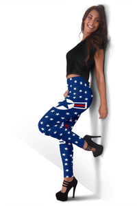 Air Force Full Length Leggings - Sapphire
