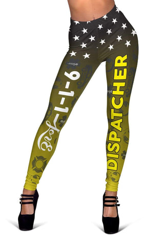 Dispatcher Full Length Leggings - Lemon Ginger