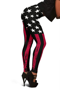 Dispatcher Full Length Leggings - Red & Black