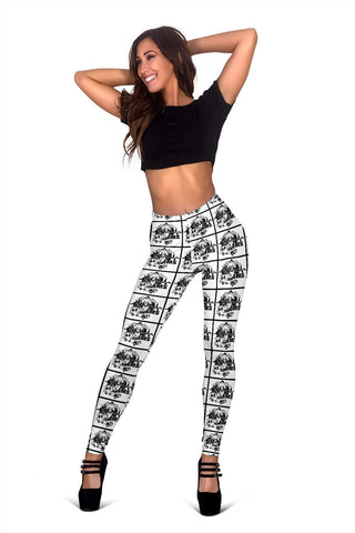 EMT Full Length Leggings - Black And White