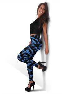 EMT Full Length Leggings - Cornflower Blue