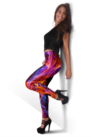 Firefighter Full Length Leggings - Amethyst