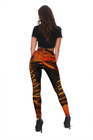 Firefighter Full Length Leggings - Burnt Umber