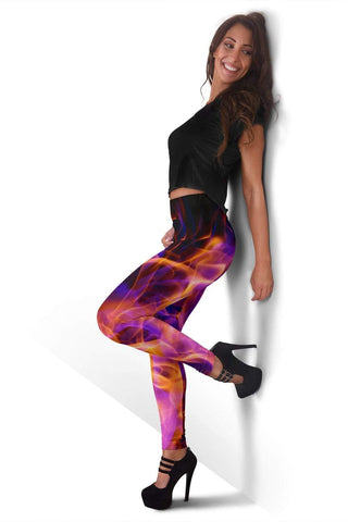 Firefighter Full Length Leggings - Fuchsia