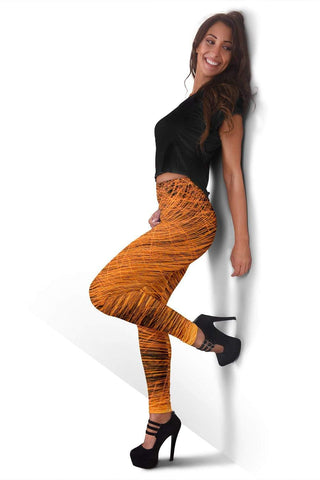 Firefighter Full Length Leggings - Lightning Yellow
