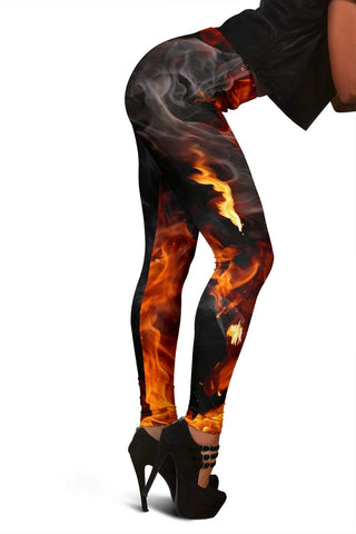 Firefighter Full Length Leggings - Livid Brown