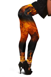 Image of Firefighter Full Length Leggings - Saddle Brown
