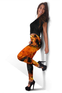 Firefighter Full Length Leggings - Saddle Brown