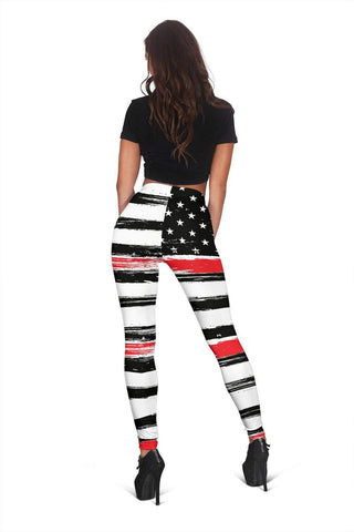 Firefighter Full Length Leggings - White