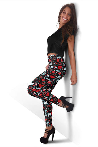 Image of Nurse Full Length Leggings - Alizarin