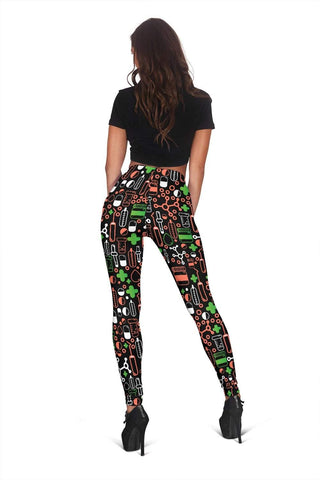 Nurse Full Length Leggings - Apple