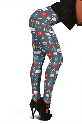 Nurse Full Length Leggings - Bright Grey