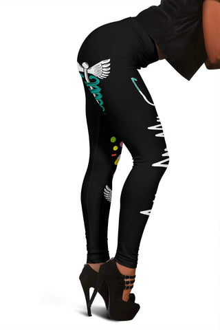 Nurse Full Length Leggings - Persian Green