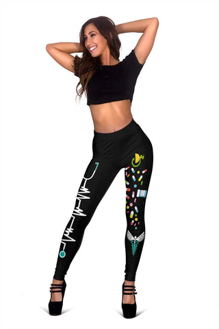 Image of Nurse Full Length Leggings - Persian Green