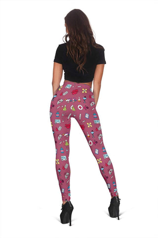 Image of Nurse Full Length Leggings - Royal Heath