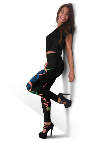 Nurse Full Length Leggings - Salmon