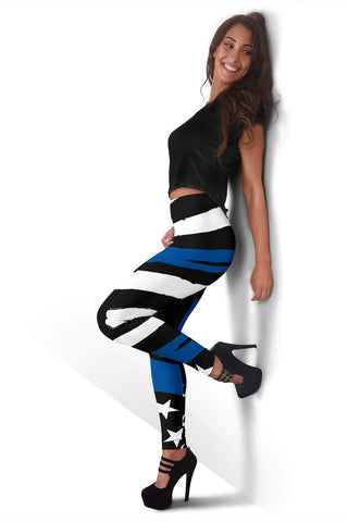 Police Full Length Leggings - Black And White