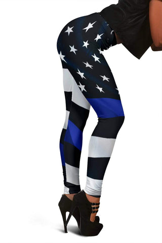 Police Full Length Leggings - Blue