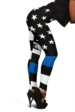 Police Full Length Leggings - Cobalt