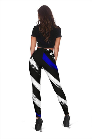 Police Full Length Leggings - New Midnight Blue