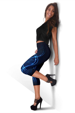 Nurse Capris Leggings - Black Russian