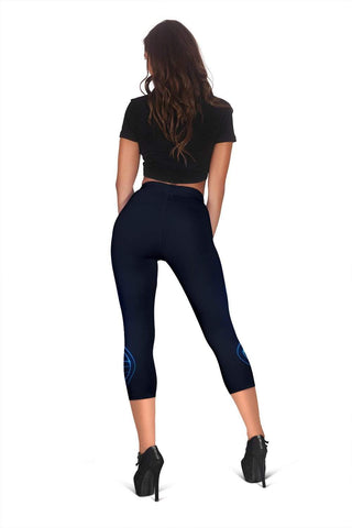Image of Nurse Capris Leggings - Black Russian