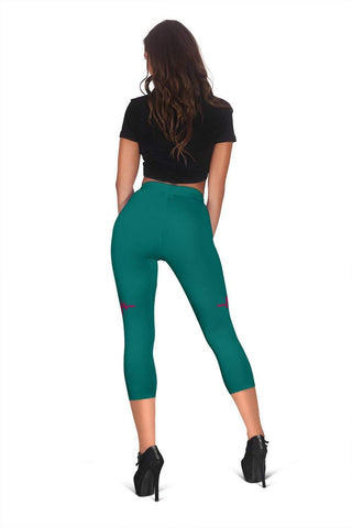 Nurse Capris Leggings - Blue Lagoon