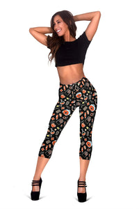 Nurse Capris Leggings - Dark Black