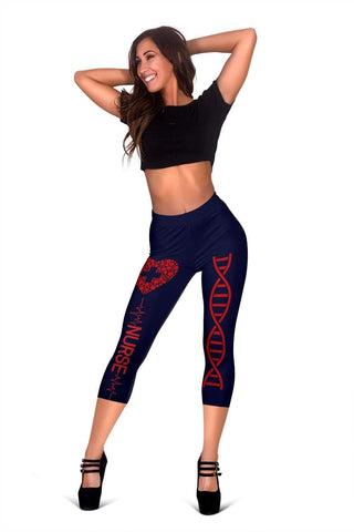 Image of Nurse Capris Leggings - Midnight Express