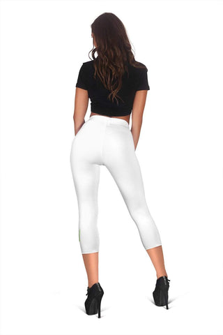 Image of Nurse Capris Leggings - Pattens White