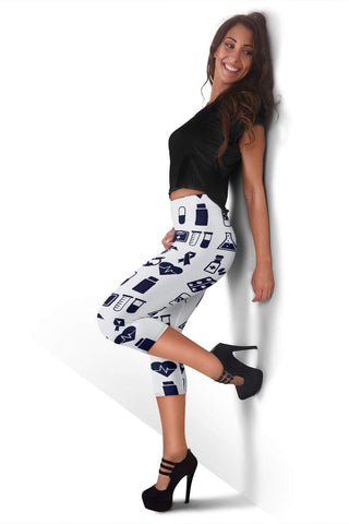 Nurse Capris Leggings - Solitude