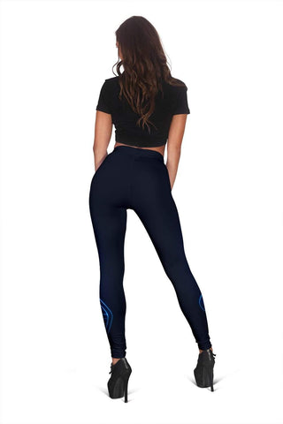 Nurse Full Length Leggings - Black Russian