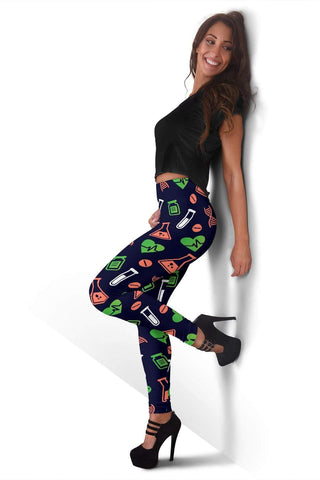 Image of Nurse Full Length Leggings - Jaguar