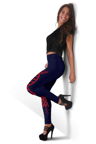 Nurse Full Length Leggings - Midnight Express