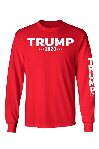 Image of Unisex Trump Re-elect 2020 Long Sleeve Shirt