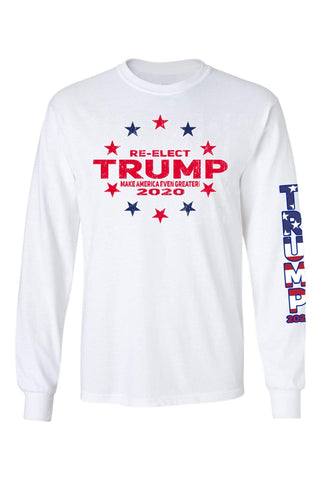 Unisex Trump Stars & Stripes Long Sleeve Shirt