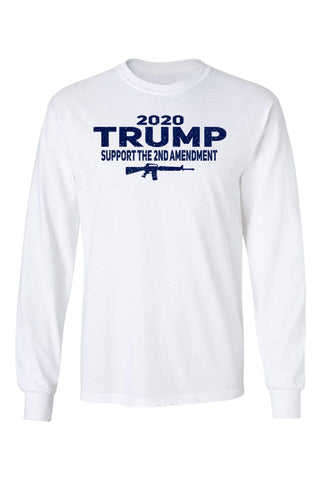 Image of Unisex Trump Support the 2nd Amendment Long Sleeve Shirt .