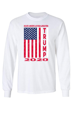 Unisex Trump USA Flag 2020 Long Sleeve Shirt