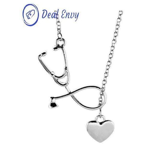 Stethoscope Necklaces Heart