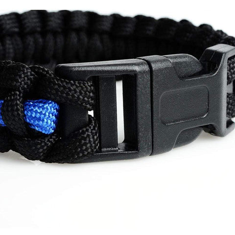Image of Blue Line Survival Paracord Bracelet