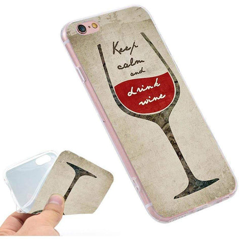 Wine Soft TPU Silicone Phone Case Cover