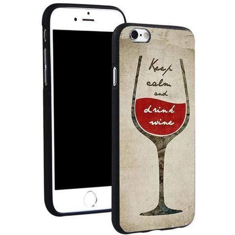 Image of Wine Soft TPU Silicone Phone Case Cover