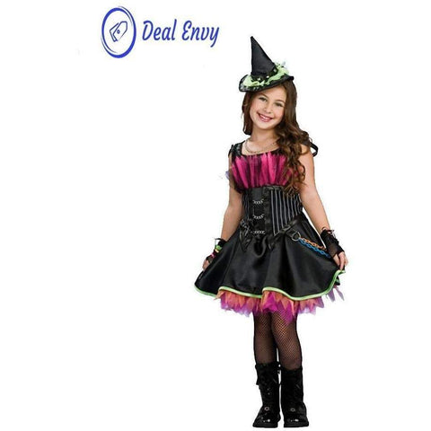 Image of Witch Costume Fancy Children Halloween