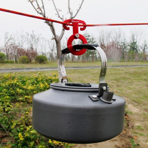 Image of Aluminum Rope Hanger Multi-Function Outdoor Camping