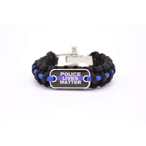 Image of Proud Thin Blue Line Survival - Para-cord Bracelet