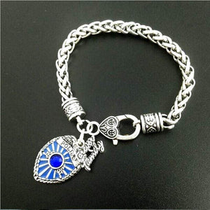 Antique Style Proud Police Mom, Sister and Daughter Bracelet - FREE + SHIPPING