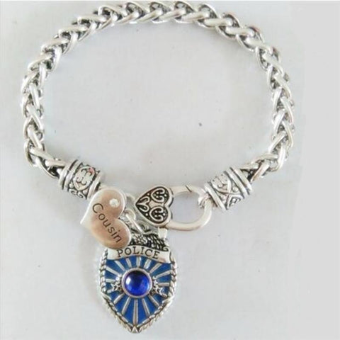 Image of Antique Style Proud Police Mom, Sister and Daughter Bracelet - FREE + SHIPPING