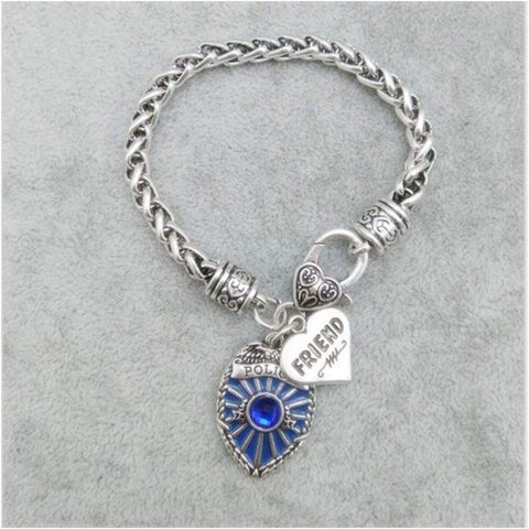 Antique Style Proud Police Mom, Sister and Daughter Bracelet