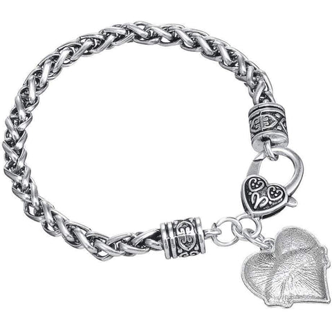 Image of Crystal Heart Charm Christian Bible Verse Bracelet