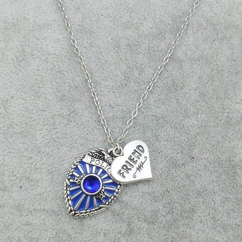 Image of Antique Style Proud Police Mom, Sister and Daughter Necklace